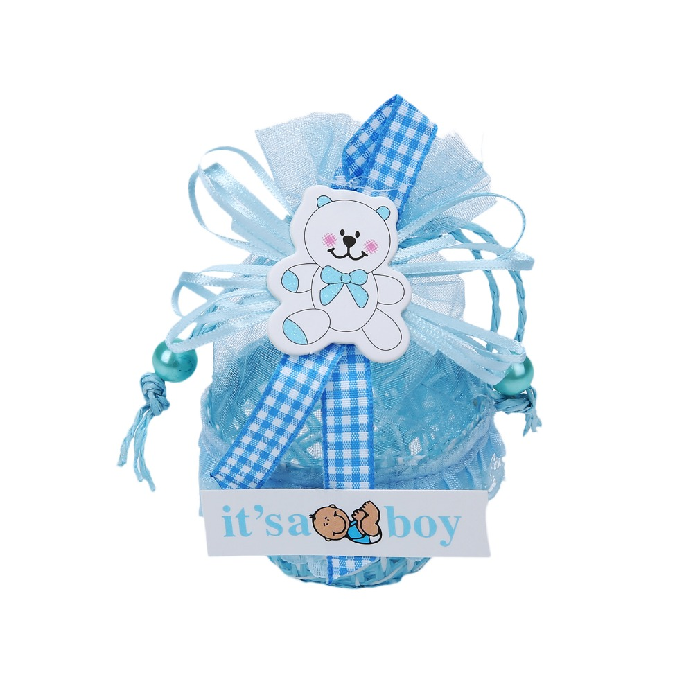 12Pcs/lot DIY Bear Pattern Birthday Baby Shower Party Favors Basket ...