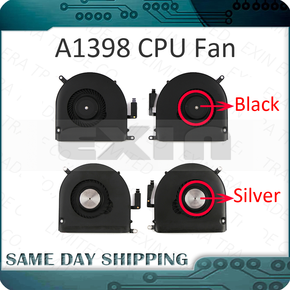 Like New Laptop A1398 FAN Set Pairs for Apple Macbook Pro Retina 15 A1398 CPU Cooling Cooler Fan Left Right 2012 2013 2014 2015 image