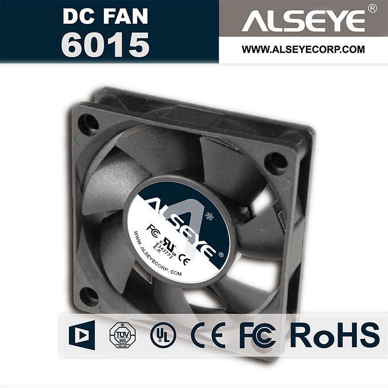 ALSEYE 6015 60mm Fan Cooling DC 12v 0.22A 3000RPM Hydraulic Bearing Electrical Repair Parts 6cm fans original new aub0624hb 6cm 6015 24v 0 09a fan drive for delta 60 60 15mm
