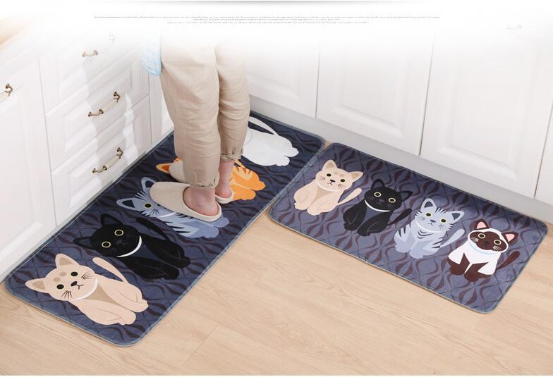 Tappeto cucina nero lavabile in lavatrice tappeto bagno