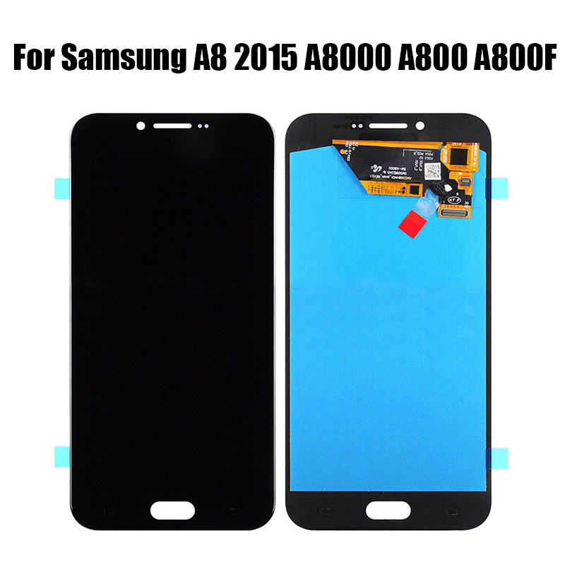 AMOLED LCD For <font><b>Samsung</b></font> Galaxy A8 A800 <font><b>A8000</b></font> A800F LCD Display Touch Screen Digitizer Assembly Replacement For A8 LCD Screen image