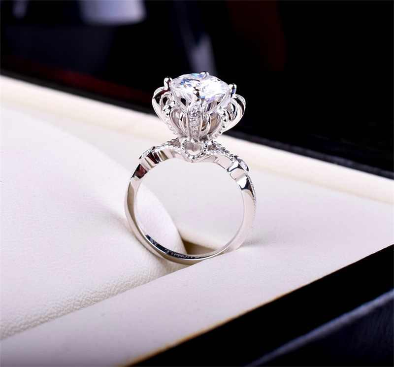 YHAMNIเดิม100%บริสุทธิ์925แหวนแต่งงานเงินสำหรับผู้หญิงSet Top 1 ct CZ D Iamantแหวนหมั้นเครื่องประดับแบรนด์JZR049