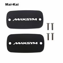MAIKAI For MAXSYM 400/400i/600/600i 2010-2014 CNC Aluminum Motorcycle Brake Fluid Fuel Tank Cap Cover цена
