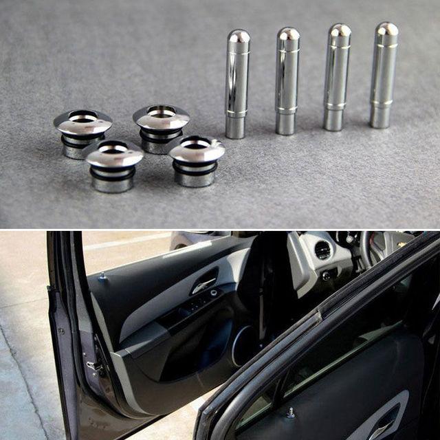 Алюминиевый Прокат Замок Изменение Дверь Pin Cap (4 xCaps + 4 xPins), Пригодный Для Chevrolet Cruze 2011 2012