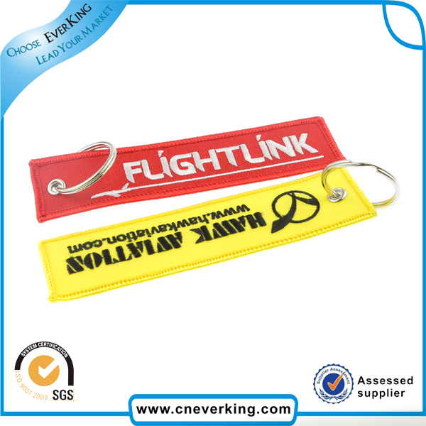 Flight Key Chain Luggage Tag Woven Embroidery Keychain 100pcs/lot Free Shipping