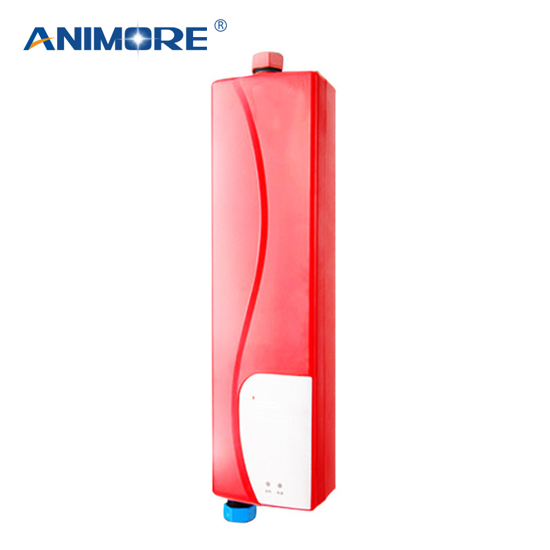 ANIMORE Mini Electric Water Heater Instant Electric Indoor Shower Tankless Water Heater Kitchen Bathroom Water Heating EWH-10