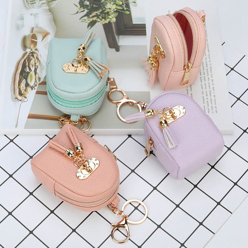 2018 New Cartoon Creative Women Coin Purses With Tassel Cute Sweet Styles Small Wallet Key Buckle Women Child Bag