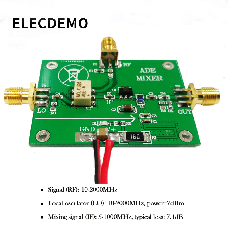 ADE-11 High Module Frequency Mixer Passive Mixer Module With Post Stage Compensation Amplifier Function Demo Board