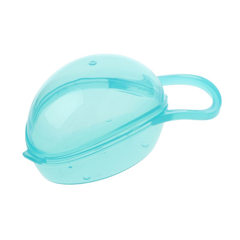 Solid Color Baby Pacifier Soother Box Container Safe Holder Travel Storage Case Transparent