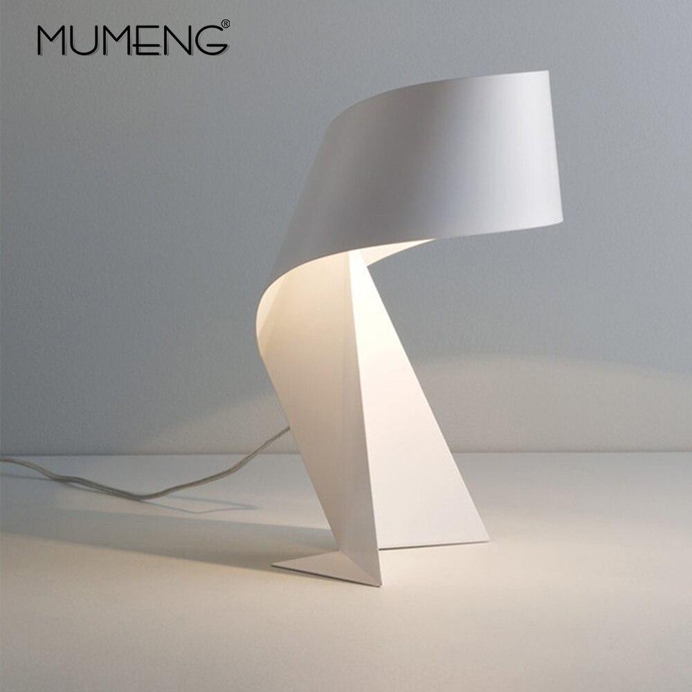 Lampe de Table nordique créative moderne minimaliste en Origami noir et blanc E27 lampe LED décorative pour salon et chambre