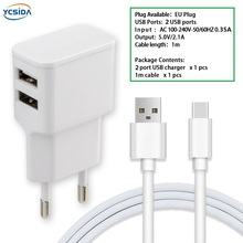 EU Plug Travel Charger adapter with Type-C cable For Huawei P20 nova Mate 10 Mate RS V10 /OPPO R17 Find X A7x/for Xiaomi mi8