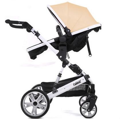 Multifuncional elevación de paisaje de alta suspensión de cuatro ruedas del cochecito de bebé puede sentarse y estaba doblada mano empuje bebé BB