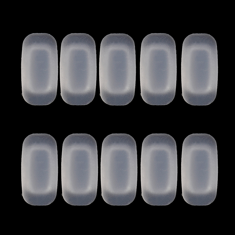 5Pairs/Lot New Square Silicone Airbag Soft Nose Pads On Glasses Slot Type Embedding Cassette Anti-Slip Toos Eyeglasses