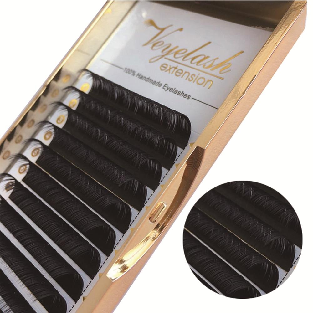 Extensão de cílios veyelash cílios individuais preto fosco cílios naturais maquiagem cilios compõem ferramentas