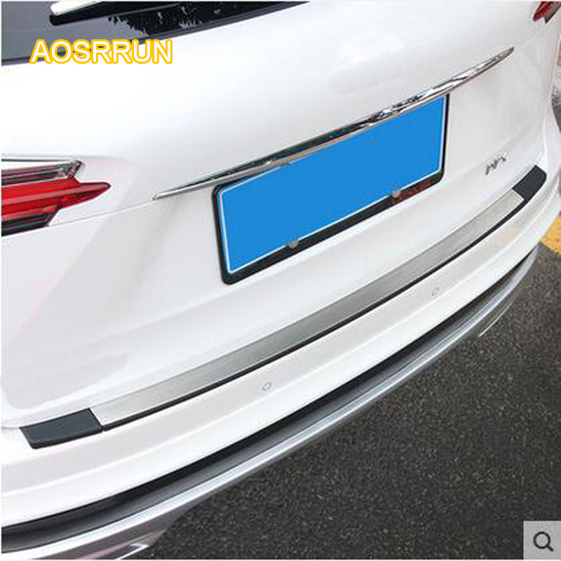 AOSRRUN plate Modified tail cover guard trunk article threshold Applicable For lexus NX200 NX200T NX300H Car Accessories
