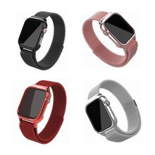 Smart Watch Band Wrist 40mm/44mm Fashion Milanese Stainless Steel Replacement Magnetic Strap for Apple