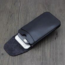 Универсальный двойной кожаный чехол для телефона, мокко коричневый кенгуру Ретро Простой стиль для iphone 7 8 plus X XS MAX XS XR двухслойный чехол
