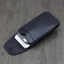 Uniwersalny podwójny skóra, na telefon przypadku Mocha brązowy kangur retro prosta styl dla iphone 7 8 plus X XS MAX XS XR podwójna warstwa etui