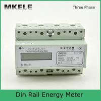 Modbus RTU Din Rail MK LEM021GC portable digital LCD three phase energy meter
