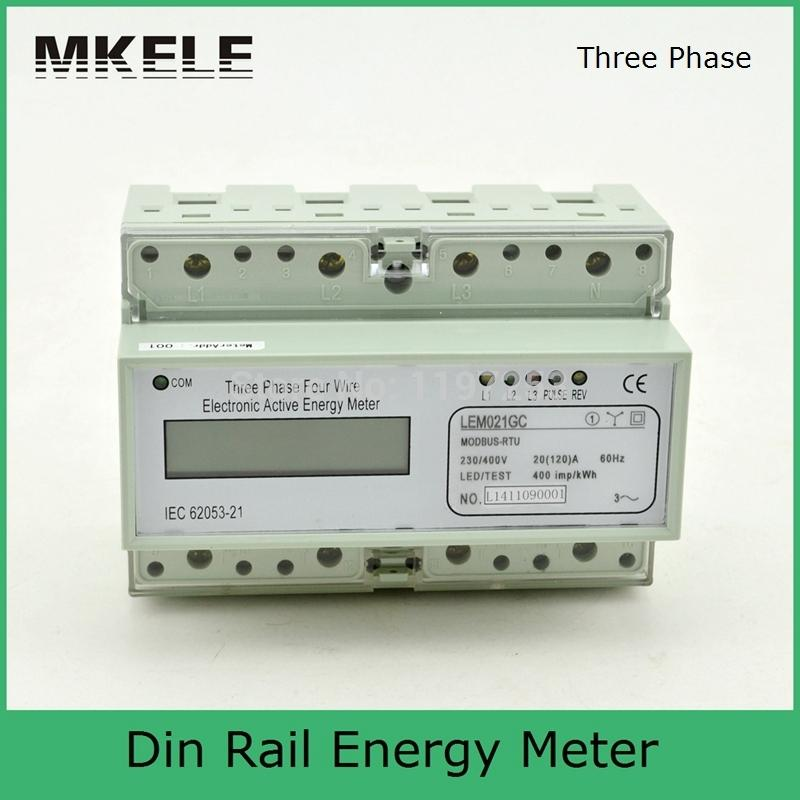 Modbus RTU Din Rail MK-LEM021GC portable digital LCD three phase energy meter