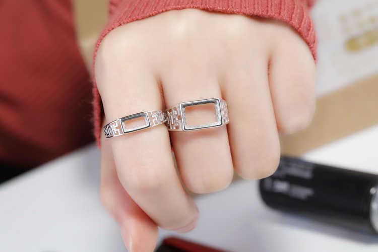925 Sterling Silber Frauen, Verlobung, Hochzeit Ring 4x8mm 6x10mm 8x12mm Prinzessin cabochon Semi Mount Ring Einstellung Großhandel