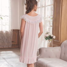 Nightgown Women Sleepwear Short Dress Cotton Simple Homewear Summer Sleepwear Ladies Princess Nightdress Summer
