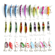 Fishing Lure Kits  Hard ARTIFICIAL LURES MINNOW FISHING LURES Set Japan Steel Balls 30Pcs Blade Fish Bait Cheap Tackle NEW 2016