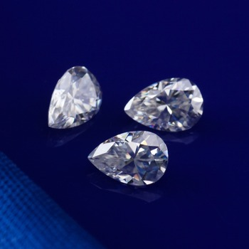 4x6mm EF Color Pear Shape Brilliant Cut VVS Clarity Synthetic Moissanite Loose Diamond