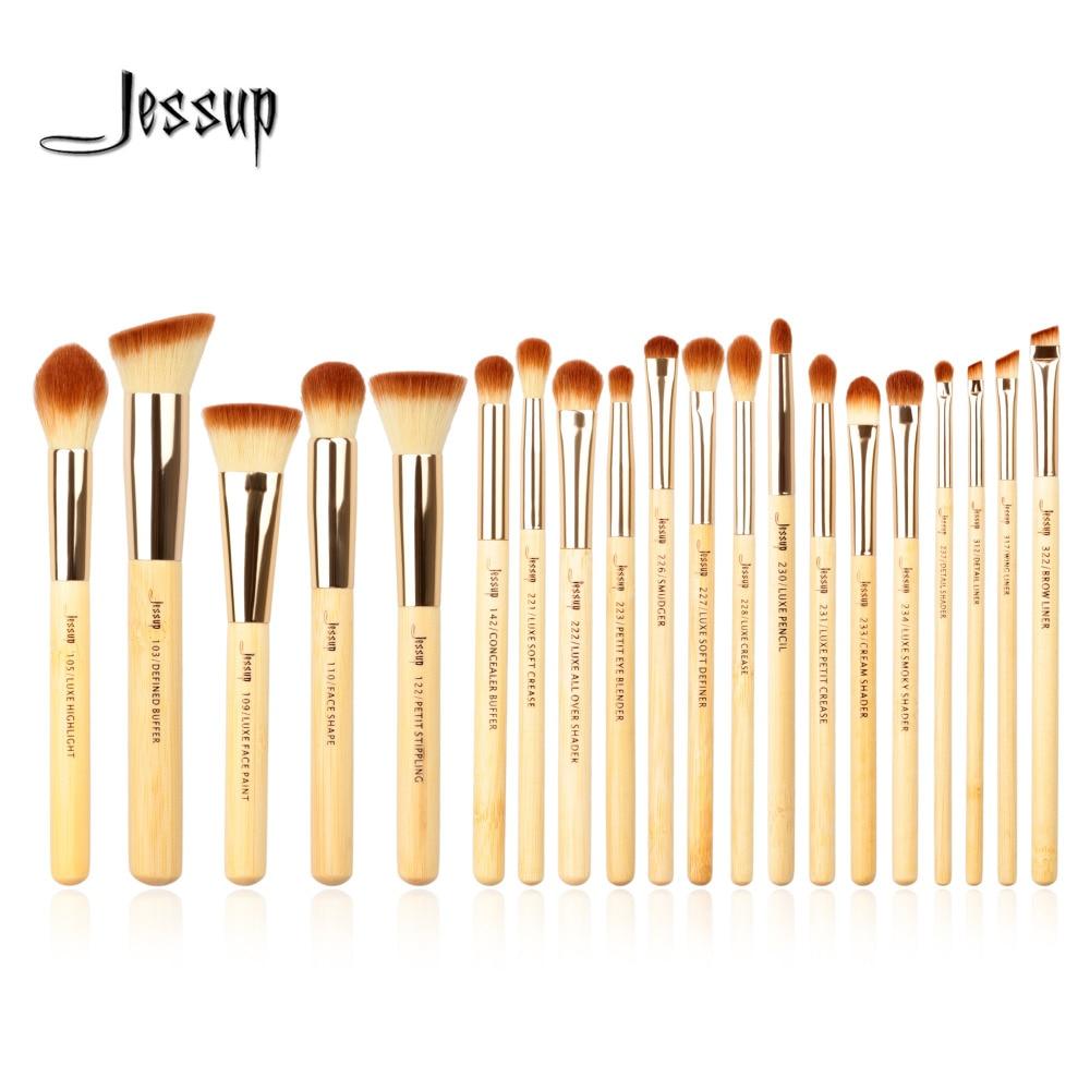 где купить Jessup brushes 20pcs Beauty Bamboo Professional Makeup Brushes Set Make up Brush Tools kit Foundation Powder Brushes Eye Shader по лучшей цене