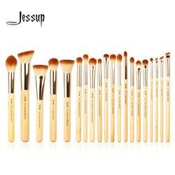 Jessup brushes 20pcs Beauty Bamboo Professional Makeup Brushes Set Make up Brush Tools kit Foundation Powder Brushes Eye Shader
