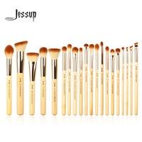 Jessup Brand 20pcs Beauty Bamboo Professional Makeup Brushes Set Make Up Brush Tools Kit Foundation Powder