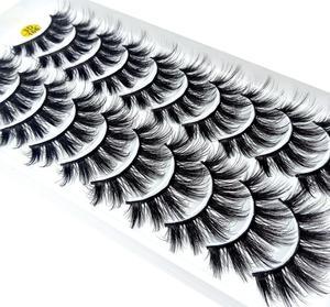 Image 3 - マルチスタイル 10 ペア 3Dソフトミンク毛つけまつげ手作りかすかなふわふわロングまつげナチュラルアイメイクアップツールフェイクまつげ