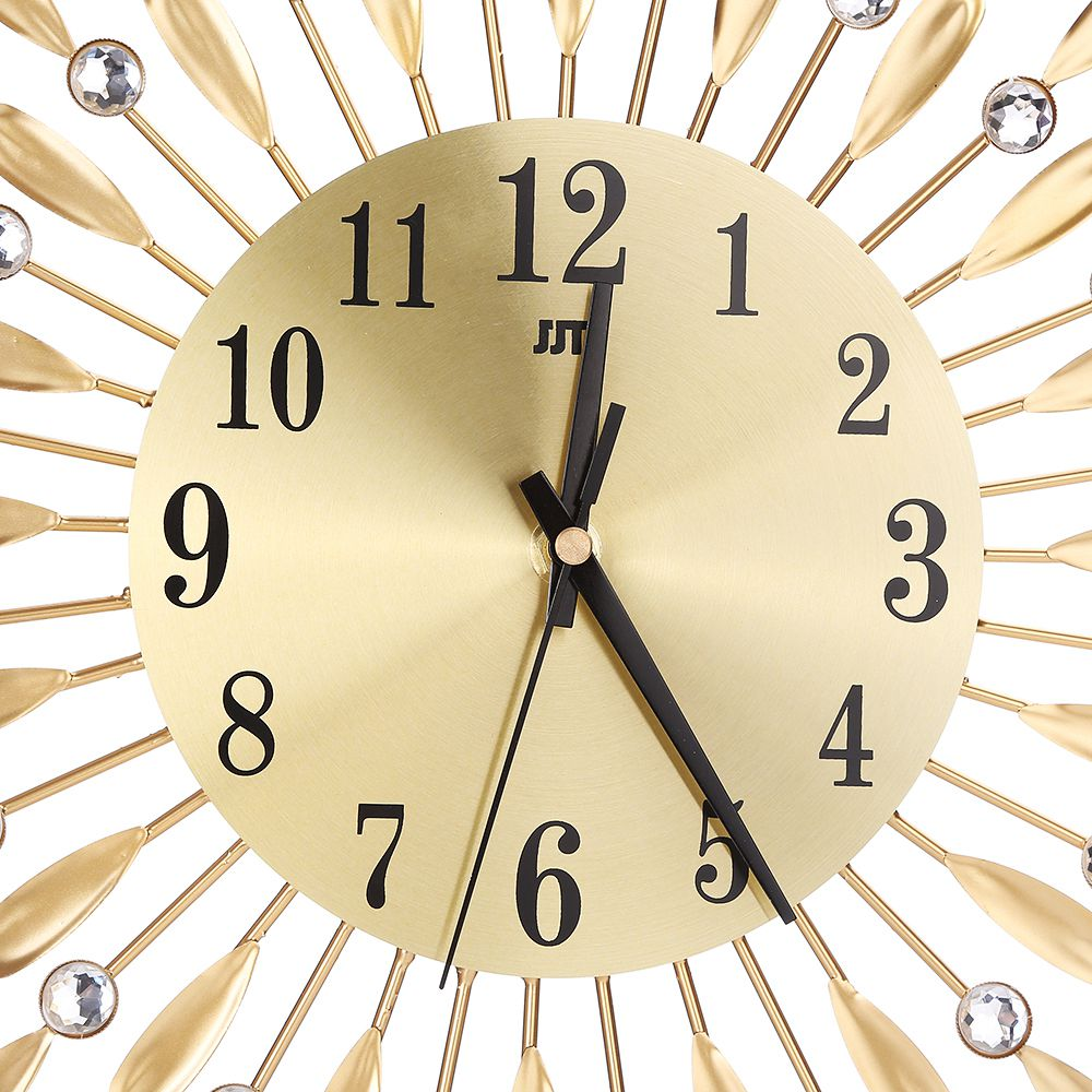 Image 5 - 15 inch 3D Large Wall Clock Shiny Rhinestone Sun Style Modern Living Room Decor-in Wall Clocks from Home & Garden