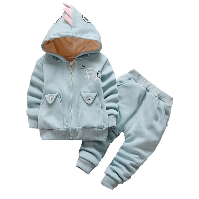 88191271e14e6 BibiCola Bébé Vêtements Ensemble D hiver Enfant Garçon À Capuche + Pantalon  Automne Chaud Épaississent