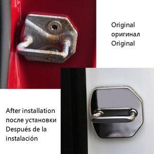 Image 2 - 4 шт./партия, автомобильный Стайлинг из нержавеющей стали для защиты дверей, крышка для дверей, крышка для ST Racing Ford Focus 2 3 Fiesta Kuga