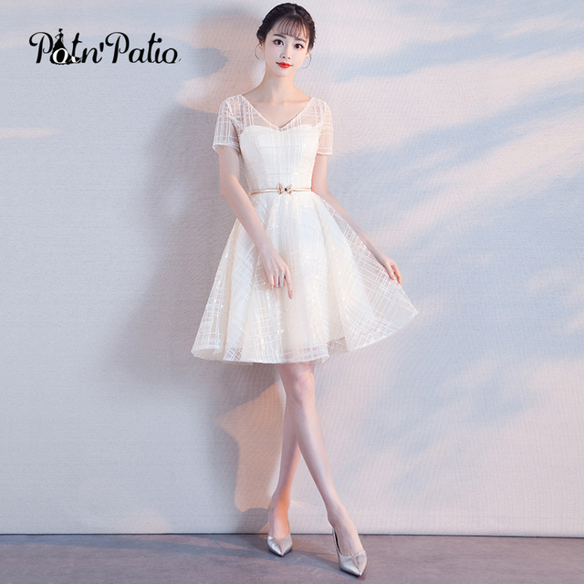 White Cocktail Dress Group