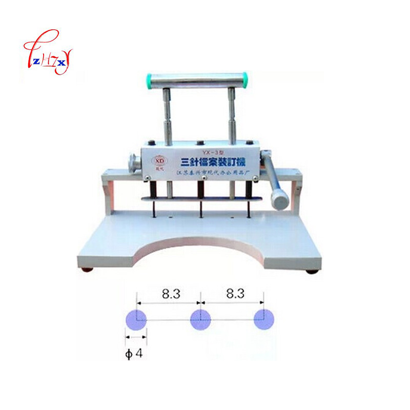 Manual Binding Machine Three-hole Punching Machine File Cover Binding Machine hole diameter 4mm YX-3 a4 size comb type binding machine mars 230 manual rubber ring clamp dual use machine 21 hole file punch binding machine 1pc