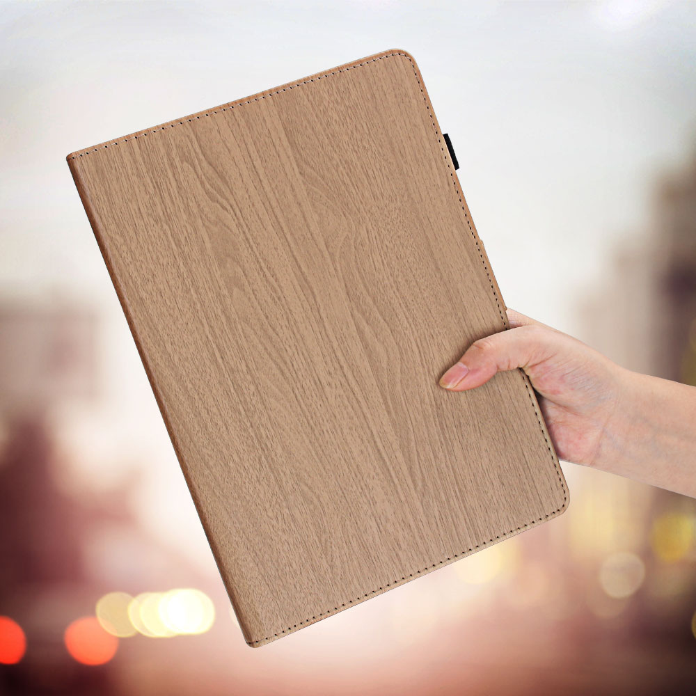 For Wood Flip Pattern iPad 7th Cover 10.2 PC for Case 2019 10.2 iPad Smart Generation