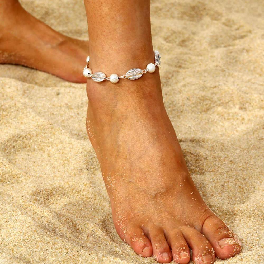 Armband voet sieraden 2018 Retro mode kristal hartvormige enkelbandje vrouwelijke link bohemian goud zilver schoenen laarzen keten