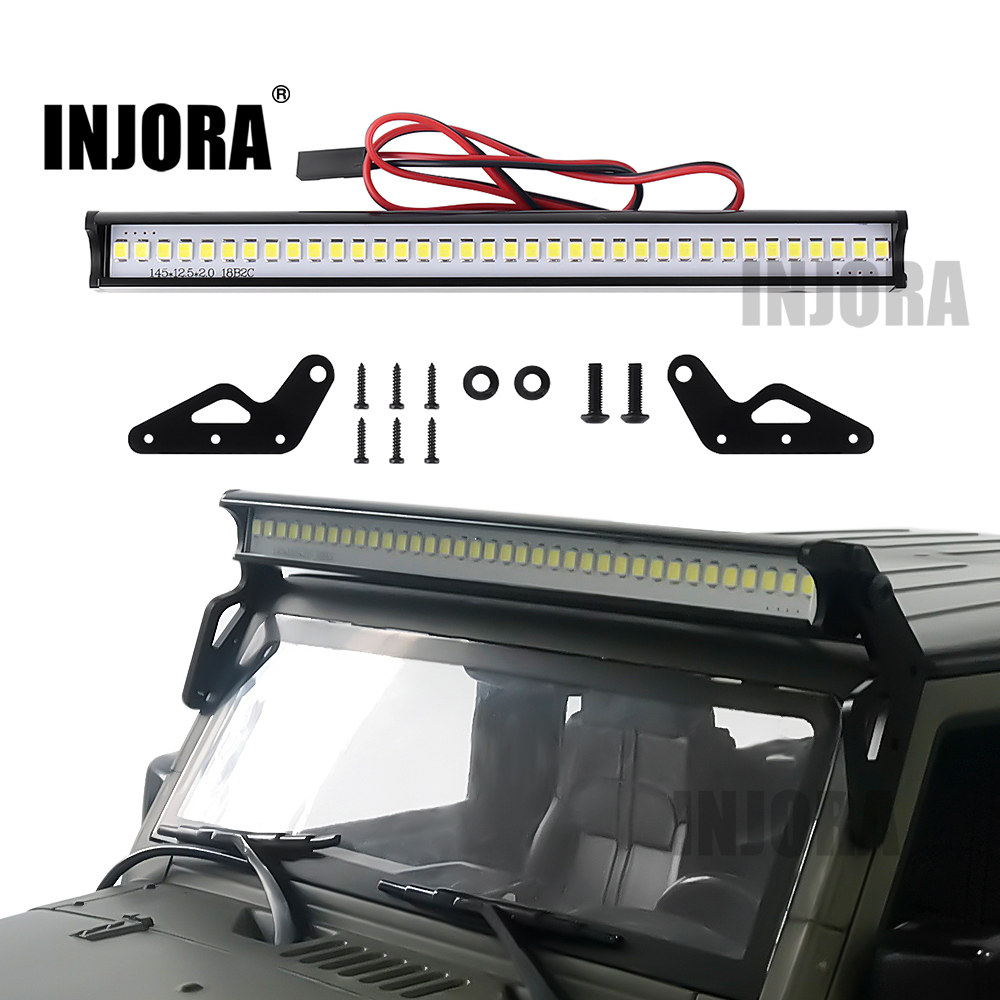 INJORA Super Bright 36LED 150MM Lights Bar For 1/10 RC Crawler Car Axial SCX10 90046 Jeep Wrangler Body