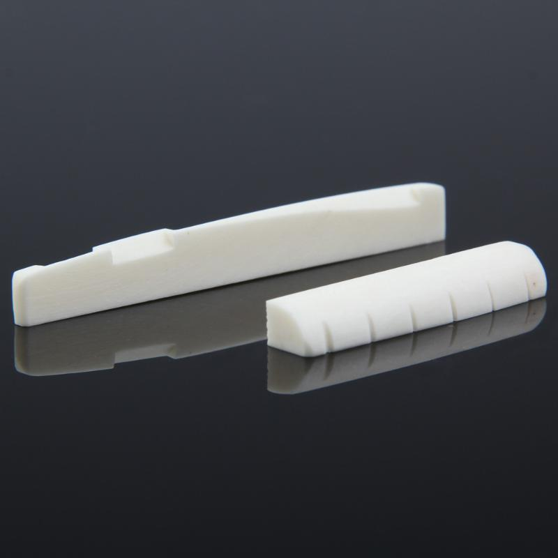 Buffalo Bone Guitar Bridge Nut Saddle For 6 String Classical Guitar White Musical Stringed Instrument Guitar Parts Accessories