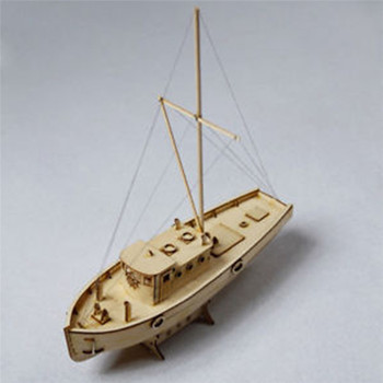 Modelo de barco à vela de madeira kits de construção diy harvey modelo de vela kits de montagem do navio decoração brinquedo presente escala 1:50