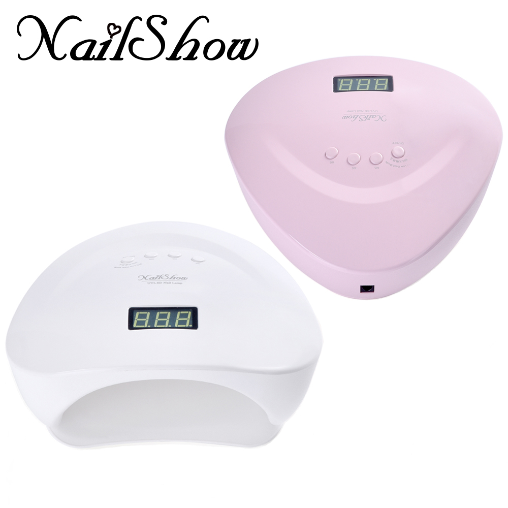 NaliShow 48W UV Nail Dryer LED Lamp Nail Light with LED Screen Timer Setting Automatic Sensor Gel uv Lamp for Nail Drying 1405 42w led lamp light nail dryer for nail polish gel nail art tools with automatic induction timer setting