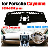 Car dashboard cover mat for Porsche Cayenne with Compass 2010 2016 Right hand drive dashmat pad dash covers auto accessories