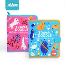 Children Educational Watercolour Fabric Paint Travel Doodle-Blue&Pink Funny Board Activity