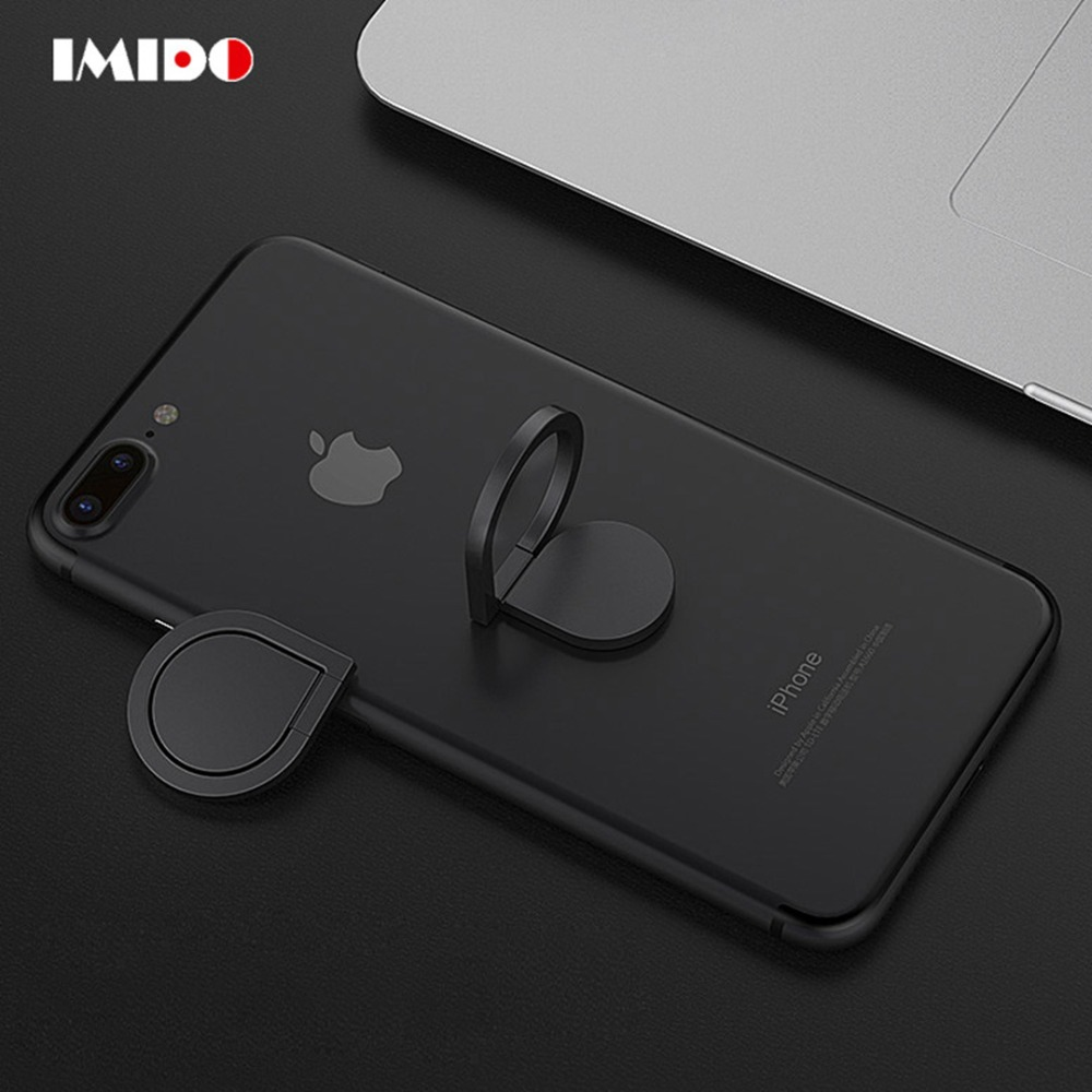 IMIDO Finger Ring Stand Holder For IPhone Samsung Xiaomi SmartPhone 360 Degree Mobile Phone Holder Cell Phone Car Mount Stand