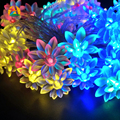 10M 100LEDs 9 Colors Lotus LED String Lights  Lover's Day Holiday EventsHolidays Garland Decor. Flowers 110V 220V US EU