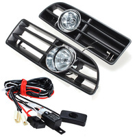 High Quality Fog Lights Grille For JETTA BORA MK4 TDI 1999 2004 Switch Wiring Harness Car