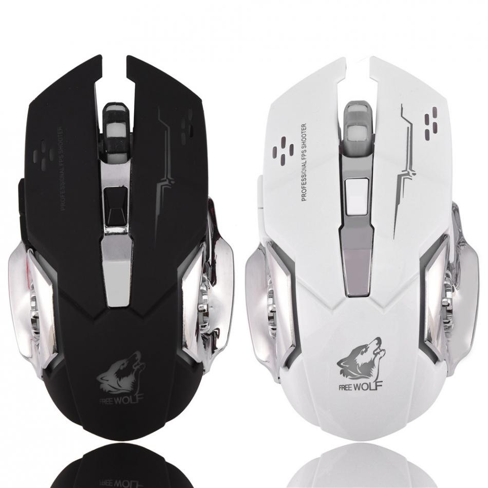 V5 Mechanical USB Wired Optical Gaming Mouse Silent Programmable Buttons Adjustable DPI LED Light
