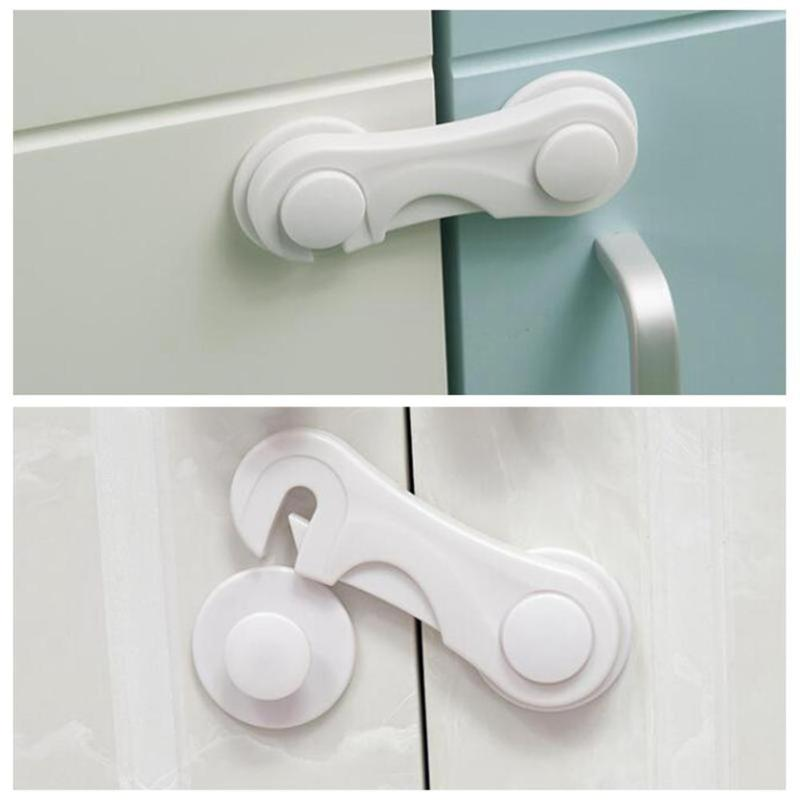 5 PCS Multifunction Infant Newborn Baby Safety Protection Child Safety Cupboard Door Cabinet Drawer Locks Straps Securite Enfant
